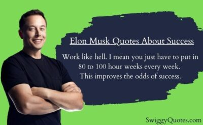 Elon Musk Quotes About Success with Images